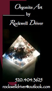 Rockwell Driver's business card for more information about Orgonite