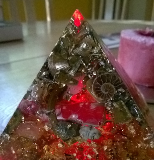 orgonite pyramid by Rockwell Driver