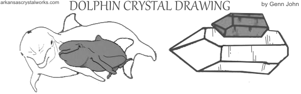 dolphin crystal drawing by Genn John
