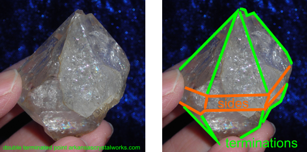 squatty double terminated crystal