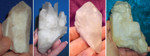 feminine or cloudy quartz crystal