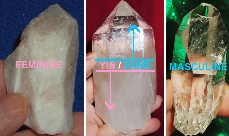 Feminine, Masculine and Yin/Yang crystals