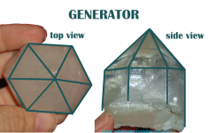 generator quartz crystal point description