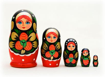 photo credit: amazon.com Khokhloma Russian Nesting Dolls