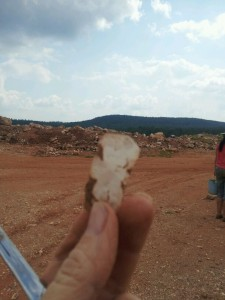 digging quartz crystal in Arkansas