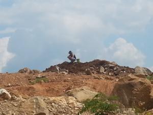 digging crystal in Arkansas