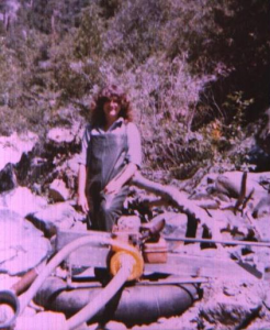 my sister with the gold dredge