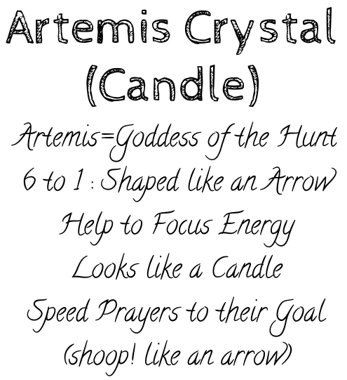 artemis or candle crystal