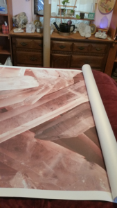 crystal mural arrives from Anna Fell at https://www.muralswallpaper.co.uk/