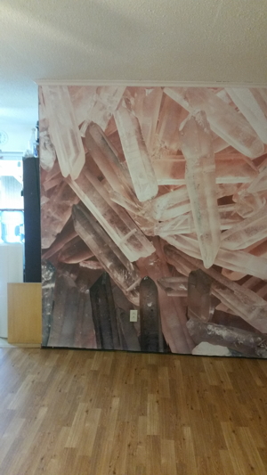 Crystal mural from MuralsWallpaper.com