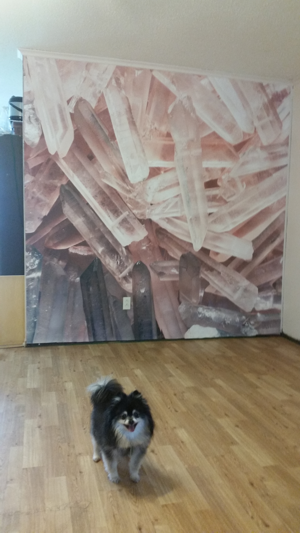 the completed crystal mural from Anna Fell at https://www.muralswallpaper.co.uk/