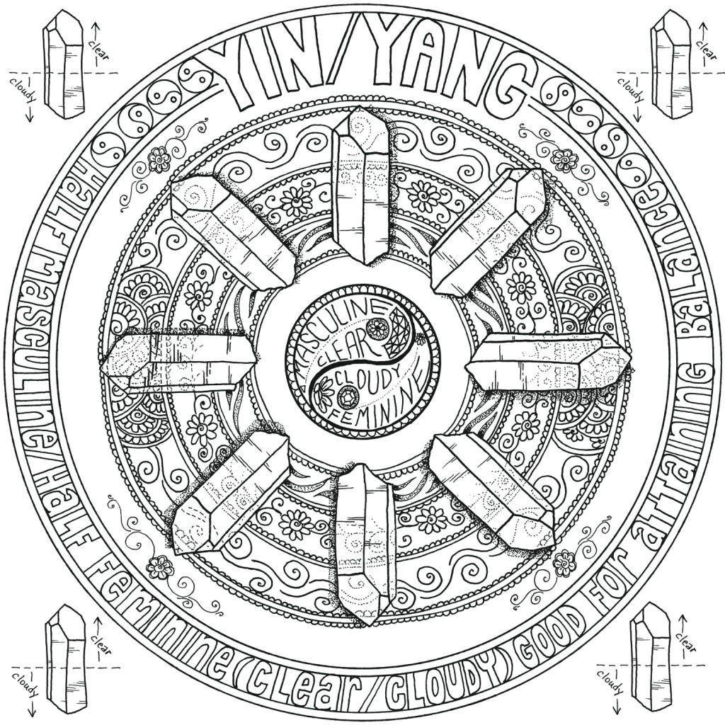 CRYSTAL MANDALAS: Anatomy and Physiology of Quartz Crystal by Genn John- Yin/Yang