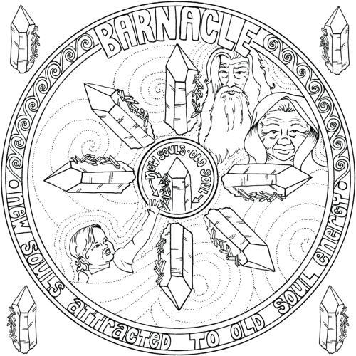 CRYSTAL MANDALAS: Anatomy and Physiology of Quartz Crystal by Genn John- Barnacle