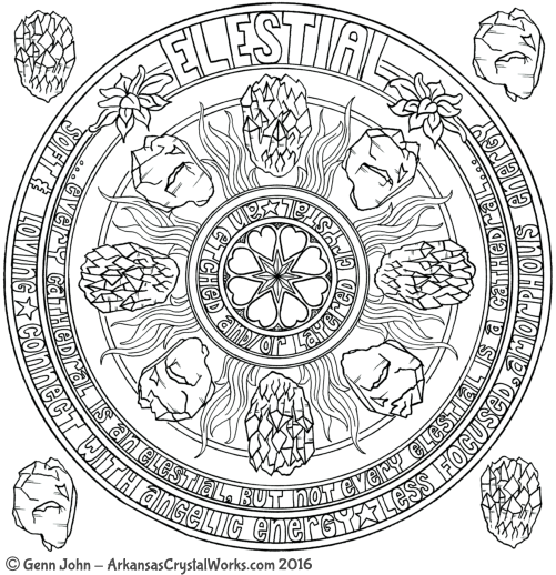 ELESTIAL Crystal Mandalas: Anatomy and Physiology of Quartz Crystals by Genn John