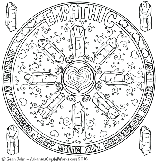 EMPATHIC Crystal Mandalas: Anatomy and Physiology of Quartz Crystals by Genn John