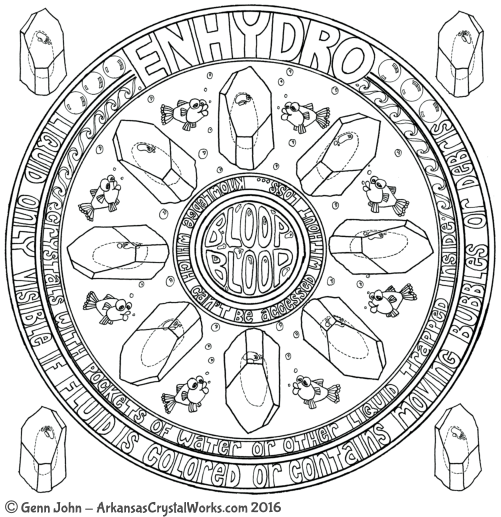ENHYDRO Crystal Mandalas: Anatomy and Physiology of Quartz Crystals by Genn John