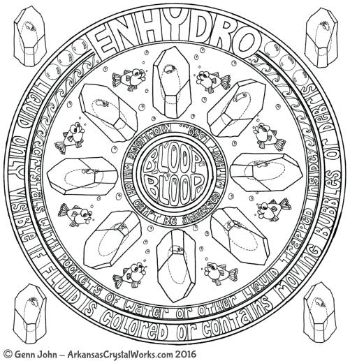 ENHYDRO Crystal Mandalas: Anatomy and Physiology of Quartz Crystals by Genn John
