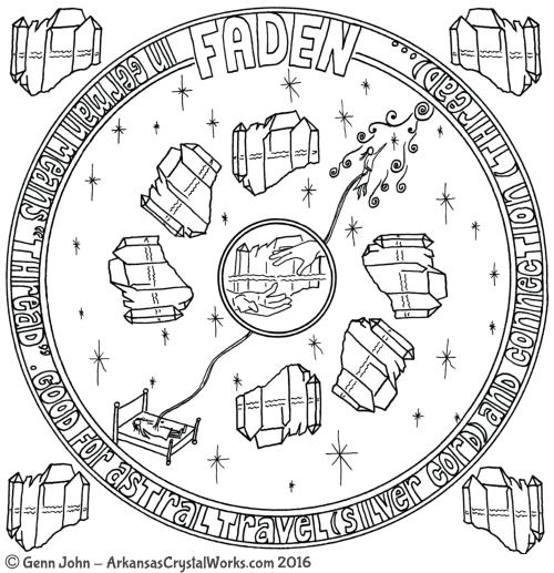 FADEN Crystal Mandalas: Anatomy and Physiology of Quartz Crystals by Genn John