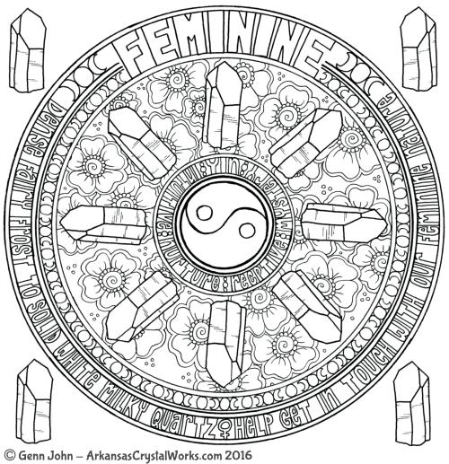 FEMININE Crystal Mandalas: Anatomy and Physiology of Quartz Crystals by Genn John