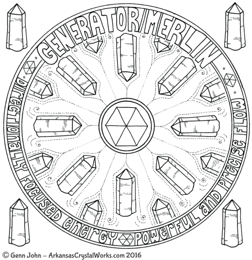 GENERATOR/MERLIN Crystal Mandalas: Anatomy and Physiology of Quartz Crystals by Genn John