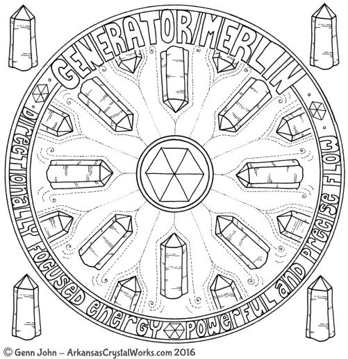 GENERATOR/MERLIN Crystal Mandalas: Anatomy and Physiology of Quartz Crystals by Genn John