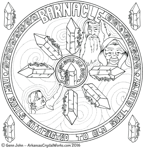 BARNACLE Crystal Mandalas: Anatomy and Physiology of Quartz Crystals by Genn John
