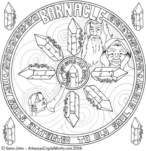 BARNACLE Crystal Mandalas: Anatomy and Physiology of Quartz Crystals by Genn John