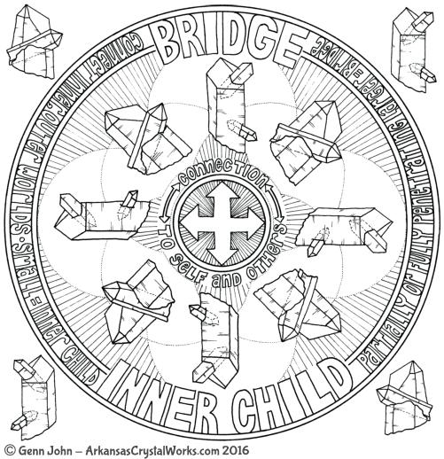 BRIDGE Crystal Mandalas: Anatomy and Physiology of Quartz Crystals by Genn John
