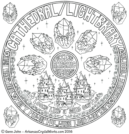 CATHEDRAL - LIGHTBRARY Crystal Mandalas: Anatomy and Physiology of Quartz Crystals by Genn John