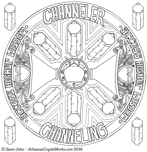 CHANNELER Crystal Mandalas: Anatomy and Physiology of Quartz Crystals by Genn John