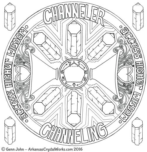 CHANNELER Crystal Mandalas: Anatomy and Physiology of Quartz Crystals by Genn John
