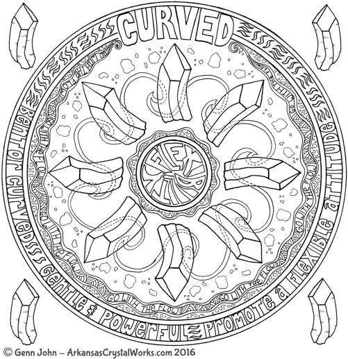 CURVED Crystal Mandalas: Anatomy and Physiology of Quartz Crystals by Genn John