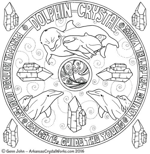 DOLPHIN CURVED Crystal Mandalas: Anatomy and Physiology of Quartz Crystals by Genn John