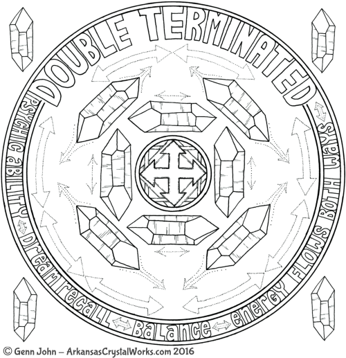 DOUBLE TERMINATED Crystal Mandalas: Anatomy and Physiology of Quartz Crystals by Genn John