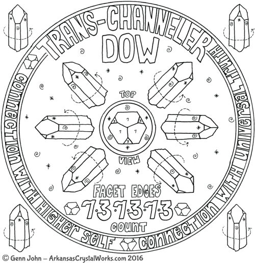DOW / TRANS-CHANNELER Crystal Mandalas: Anatomy and Physiology of Quartz Crystals by Genn John