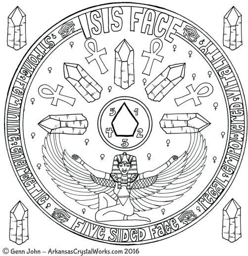 ISIS FACE Crystal Mandalas: Anatomy and Physiology of Quartz Crystals by Genn John