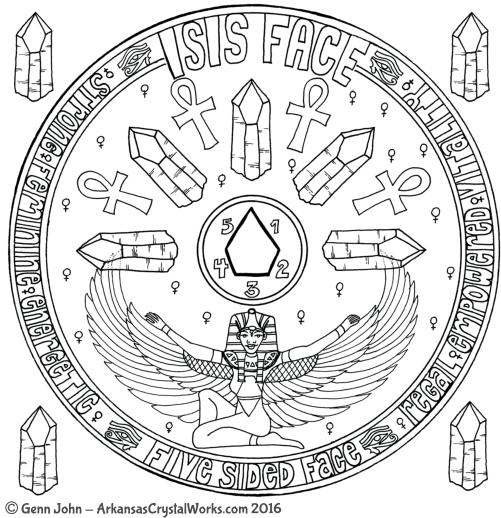 ISIS FACE Crystal Mandalas: Anatomy and Physiology of Quartz Crystals by Genn John