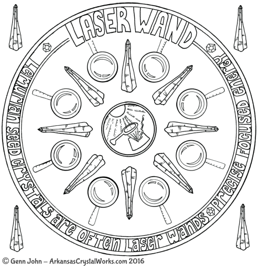 LASER WAND Crystal Mandalas: Anatomy and Physiology of Quartz Crystals by Genn John