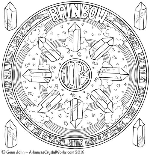RAINBOW Crystal Mandalas: Anatomy and Physiology of Quartz Crystals by Genn John