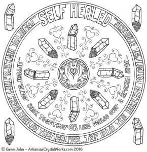 SELF-HEALED Crystal Mandalas: Anatomy and Physiology of Quartz Crystals by Genn John