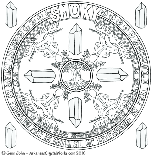 SMOKY Crystal Mandalas: Anatomy and Physiology of Quartz Crystals by Genn John