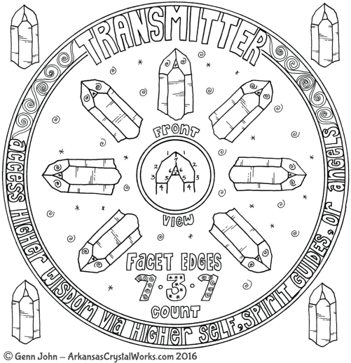 TRANSMITTER Crystal Mandalas: Anatomy and Physiology of Quartz Crystals by Genn John