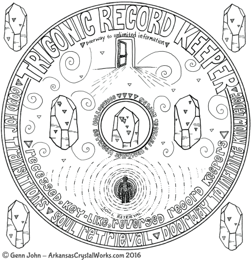 TRIGONIC RECORD KEEPER Crystal Mandalas: Anatomy and Physiology of Quartz Crystals by Genn John