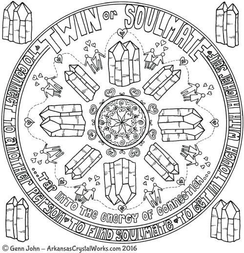 TWIN or SOULMATE Crystal Mandalas: Anatomy and Physiology of Quartz Crystals by Genn John