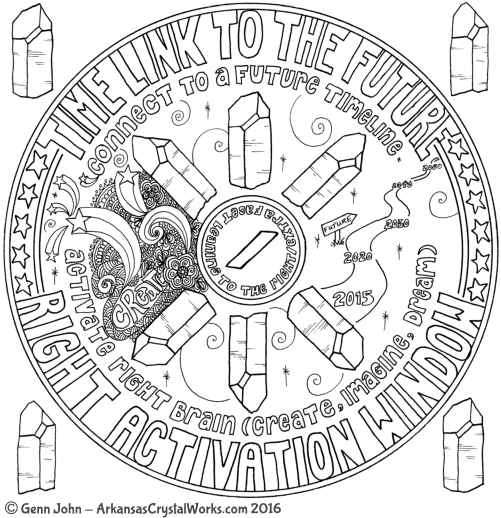 WINDOW-RIGHT ACTIVATION Crystal Mandalas: Anatomy and Physiology of Quartz Crystals by Genn John