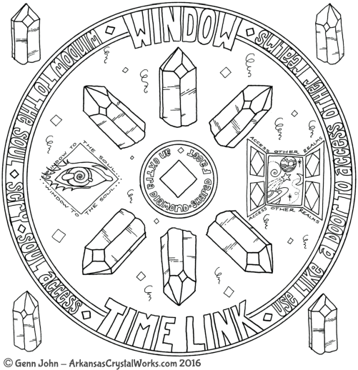 WINDOW Crystal Mandalas: Anatomy and Physiology of Quartz Crystals by Genn John