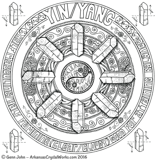YIN/YANG Crystal Mandalas: Anatomy and Physiology of Quartz Crystals by Genn John