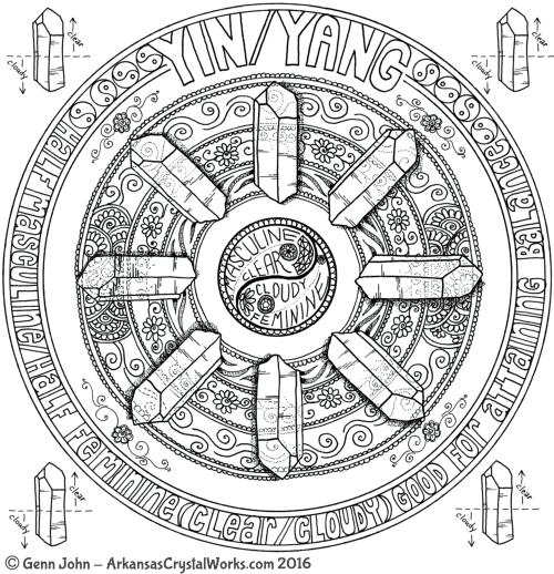 YIN/YANG Crystal Mandalas: Anatomy and Physiology of Quartz Crystals by Genn John