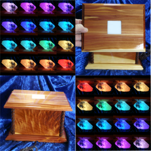 Handcrafted Lighted Crystal Display Boxes