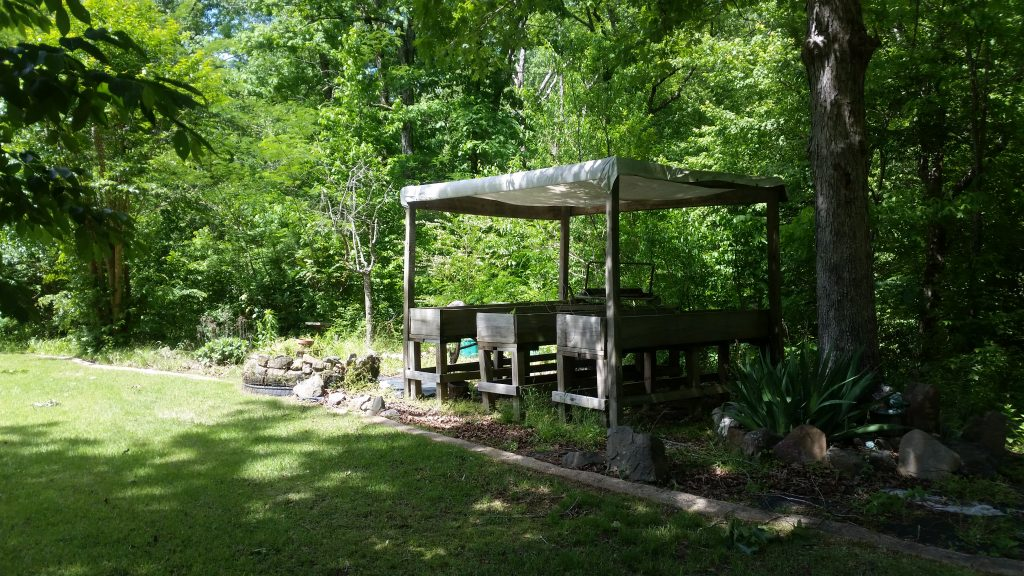 111 Little Bear Trail Hot Springs Arkansas raised garden area